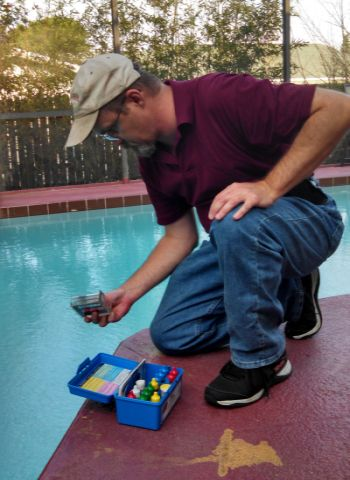swimming pool care, basic pool care, green pool water, green swimming pool, algae green water, cloudy pool water