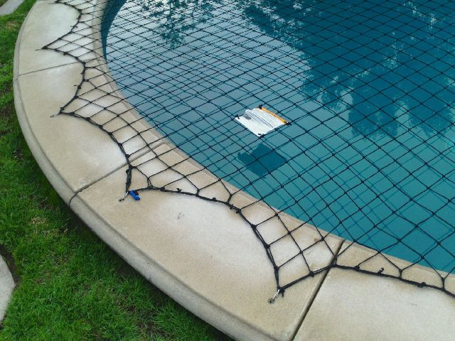 swimming pool safety net, swimming pool safety equipment, inground pool safety