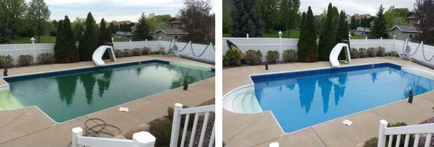 swimming pool care testimonies, basic pool care, inground pools, aboveground, green pools, algae green pool water