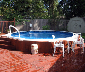 Above ground swimming pool liner price installation for Top of the line above ground pools