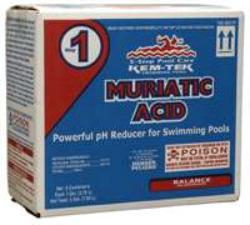Pool Muriatic Acid Ph Alkalinity Decrease Adjust Pool