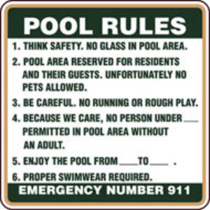 Pics For Pool Safety Rules