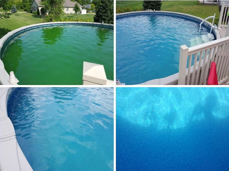 wimming pool care, basic pool care, above ground pool maintenance, inground, salt water, green pools, algae green swimming pool