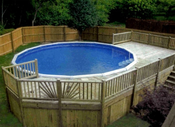 above ground swimming pool deck Cheap Pool Liners For Above Ground Pools