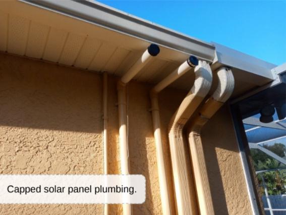 pool solar plumbing