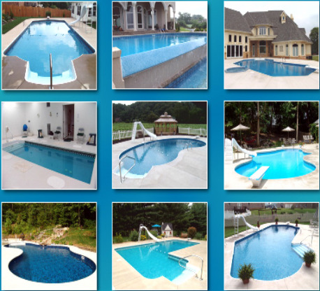 Swimming pool sizes costs designs financing plan custom - Swimming pool design ideas and prices ...