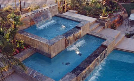 Swimming Pool Fountain Ideas heres a spectacular backyard pool complex thats akin to a private water park with a pool Swimming Pool Fountains
