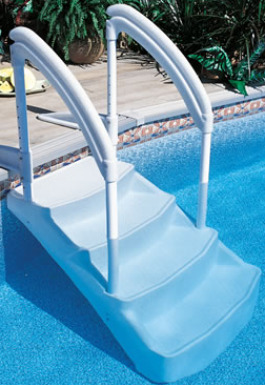 swimming pool steps, swimming pool steps ladders, swimming pool ladder, stair hand rails, swimming pool care, basic pool care