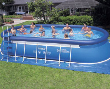 Portable swimming pools discount backyard above ground - Swimming pool discounters ...